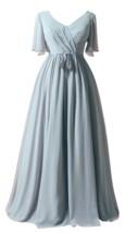 Modest / Simple Grey Plus Size A-Line / Princess Mother Of The Bride Dress - £151.78 GBP
