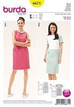 Burda Dress Pattern 6671 sizes 10-20 - $10.88