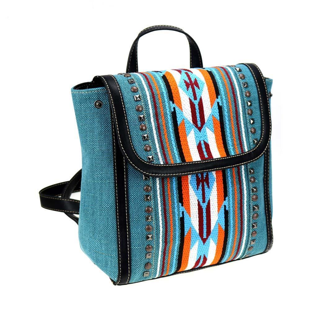 NWT Montana West Aztec Turquoise Backpack image 3