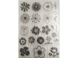 Floral Icons Clear Stamp Set