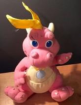 Dragon Tales Cassie Pink Flying Dinosaur 1999 Stuffed Animal Toy Playskool - $20.00