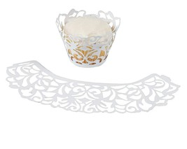 White Laser-Cut Cupcake Wrappers  (24 Pack) - $6.64