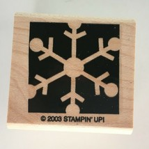 Stampin Up Snowflake Silhouette Rubber Stamp Winter Holidays Christmas Snow 2003 - $4.50