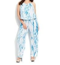 Calvin Klein Women's Cocktail Cruise Party Church Tie-Dyed Jumpsuit plus... - $89.09