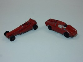 Tootsietoy Red Wedge Dragster & Fiat Abarth Die Cast Car - $11.29