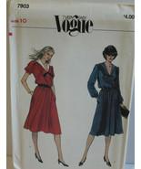 Vogue Sewing Pattern 7903 Misses Dress Size 10 Vintage - $14.50