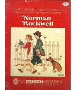 Norman Rockwell Young Love Series Cross Stitch Pattern Book - $9.98