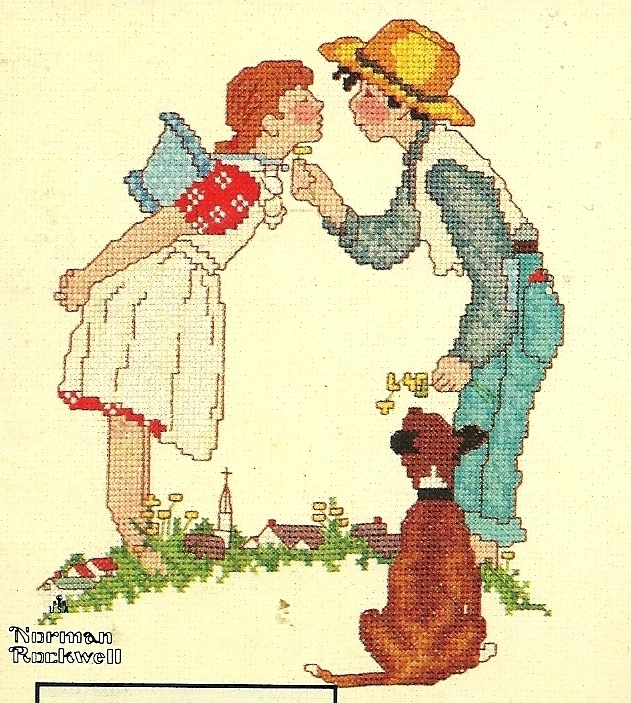 Norman Rockwell Young Love Series Cross Stitch Pattern Book