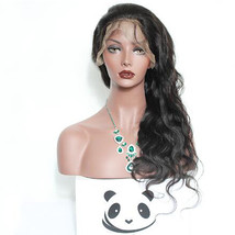 "20"" Black Natural Body Wave Wig Curly Lace Front Wigs For African American - $56.66"