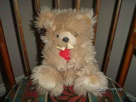 Ganz Prescott Bear 9 inch Heritage Valentines Day Satin Roses H788BS 1992 - $58.00