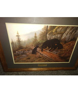 """Limited edition Signed Hayden Lambson """"Mountainside Cafe"""" Framed Print 4... - $110.00"""