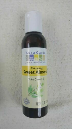Primary image for Aura Cacia Sweet Almond Natural Skin Care Oil 4 Fl Oz Bulk Pk Lot