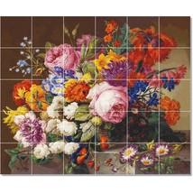 Joseph Nigg Flowers Painting Ceramic Tile Mural BTZ22889 - $300.00 - $1,800.00