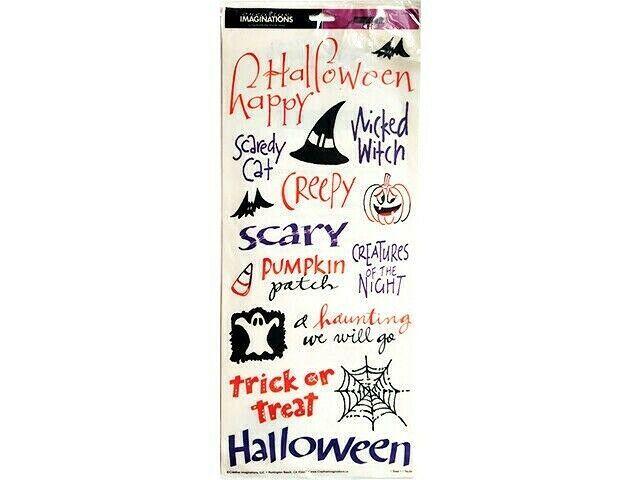 Creative Imaginations Ghosts & Goblins Halloween Sticker Set #16018s