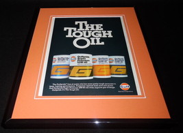 1980 Gulf Oil Framed ORIGINAL 11x14 Vintage Advertisement - $32.36