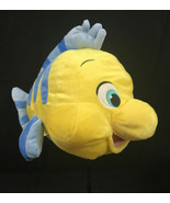 Flounder Plush The Little Mermaid Toy Soft Stuffed Fish Disney Store 14 ... - $18.66
