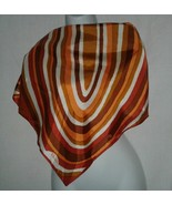 Paoli Vintage Scarf Rolled Edge Geometric 31 Square Ladies Oval Circles ... - $15.99