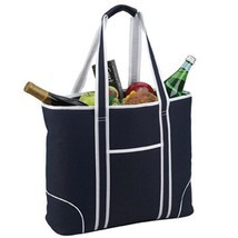 Picnic at Ascot Extra Large Insulated Cooler Bag - 30 Can Tote, Navy - £16.37 GBP