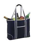 Picnic at Ascot Extra Large Insulated Cooler Bag - 30 Can Tote, Navy - £16.16 GBP