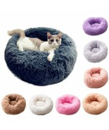 Cat Beds Round Comfy Calming Dog Bed For Cats Soothing Bed Dog Anti Anxi... - $18.31+