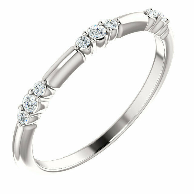 Primary image for Diamond Stackable Ring In 14K White Gold (1/8 ct. tw.)