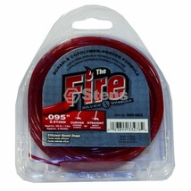 "Fire Trimmer Line 102142952 09504 Diameter .095"" 40' Red Clam Shell - $7.06"