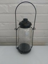 Yankee Candle Jar Holder & Shade lantern Glass & Metal holder Eat 1969 9... - $29.69