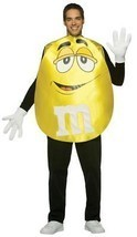 M&M'S Adult Costume Yellow Men Women Food Candy Halloween Party Unique G... - $54.99