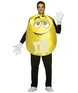 M&M'S Adult Costume Yellow Men Women Food Candy Halloween Party Unique G... - $1.030,70 MXN