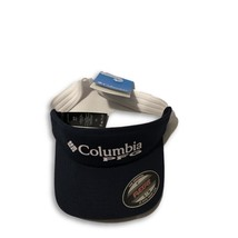 New NWT Columbia Sportswear PFG Navy Flex-Fit Visor Hat - $16.79