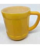 Yellow Federal Glass Coffee Cup Mug - $10.39