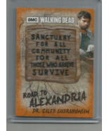 2018 TOPPS AMC WALKING DEAD ROAD TO ALEXANDRIA DR. CALEB RUST COMM PATCH... - $13.99