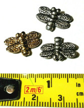 DRAGONFLY FINE PEWTER BEAD - VERTICAL HOLE image 2