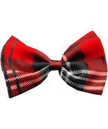 Red Plaid Bow Tie - $10.95