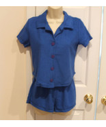 new/pkg frederick's of hollywood 2 pc terry Short & top set  made in USA... - $21.77