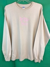 Gildan Jiving Java Granite Falls NC Beige Pink Long Sleeve Tee Shirt Size 2XL - $8.60