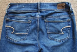 American Eagle Womens Kick Boot Super Stretch Blue Denim Jeans Size 2   - $33.21