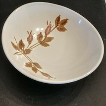 Red Wing Rose Soup Bowl Futura Hand Painted Pottery Vintage Mid Century Modern - $15.82