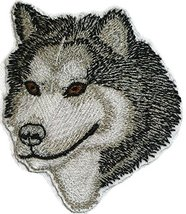 "Amazing Alaskan Malamute dog face Embroidery IronOn/Sew patch [3"" x 2.5""... - €5,95 EUR"
