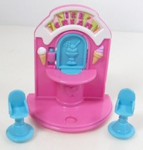 1995 Polly Pocket Ice Cream Fun/Stand - Stand and Stools Bluebird Toys - $14.00