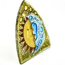Fused Art Glass Sun & Moon Design Night Light Handmade in Ecuador image 5