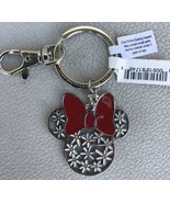Disney Parks Minnie Mouse Icon Bow Flowers Daisies Keychain - New With Tags - $12.99