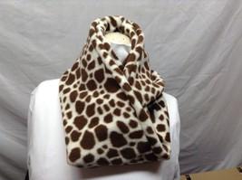 Cream/Brown Giraffe-like Print Infinity Scarf