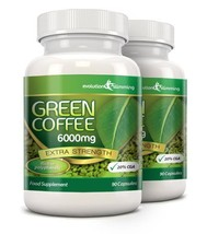 Green Coffee Bean Pure 6000mg with 20% CGA 180 Capsules (2 Months) - $48.09