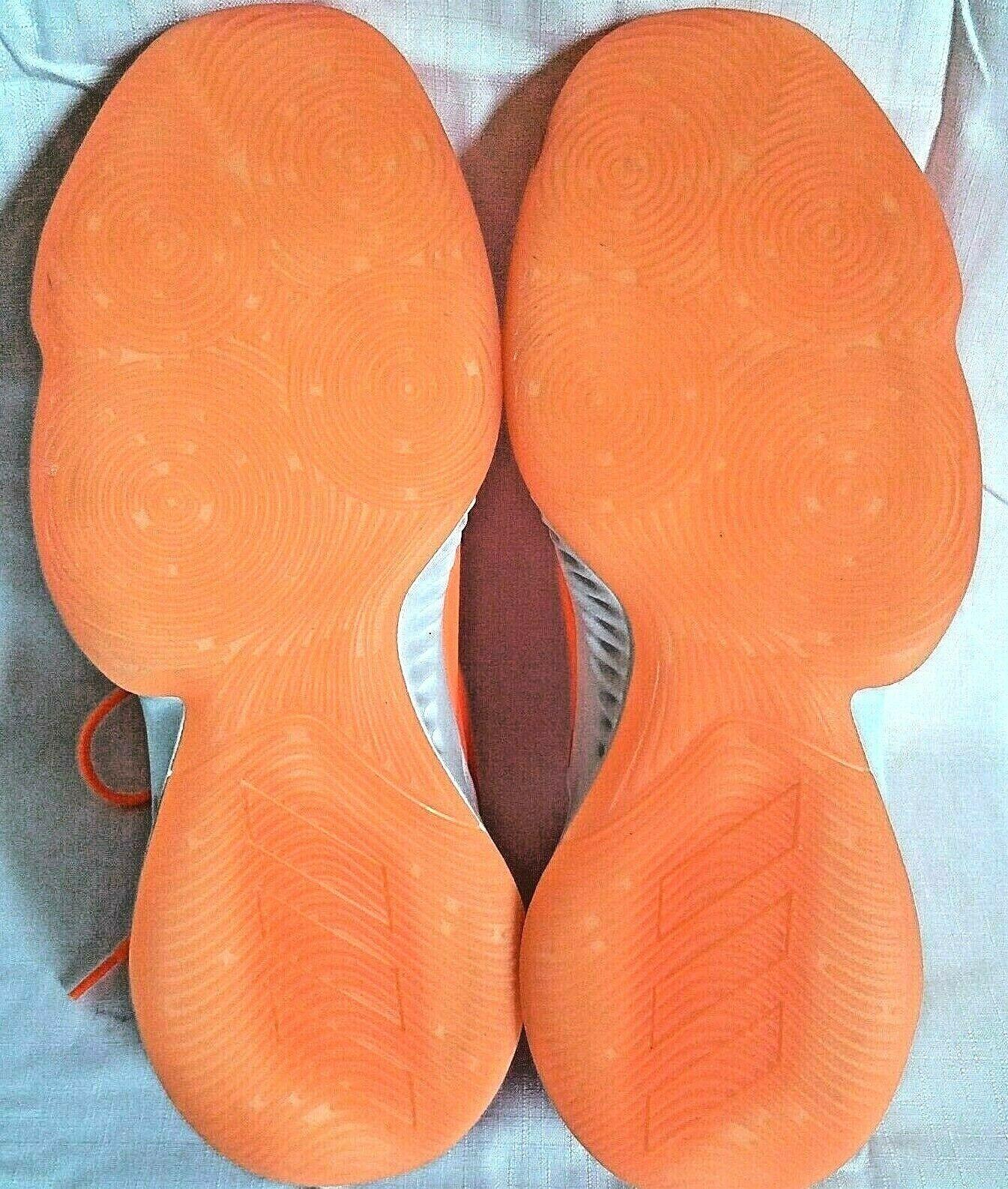 adidas SM Mad Bounce Mens 12.5 D97371 Basketball Shoes Orange & White 2018 image 9