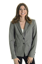 Sz 8 Banana Republic Gray Stretch Cotton Blend 2-Button Front Blazer w/ ... - $97.02