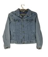 Wrangler Mens Blue Denim Long Sleeve Tapered Fit Collared Jean Jacket Si... - $39.19