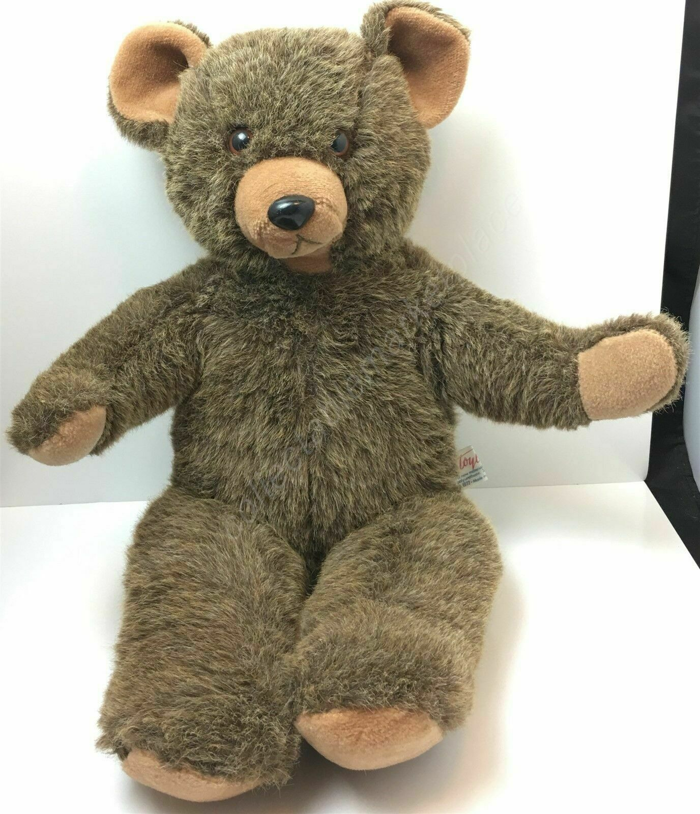 "Primary image for VTG TOYLAND LTD Large 20"" Brown & Tan Teddy Bear PLUSH Made in ISRAEL"