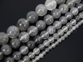 Natural Grey Cloudy Quartz Gemstone Round Beads 15.5'' 4mm  6mm 8mm 10mm... - $3.32+