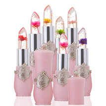 BAHYHAQ - 6Pcs/Set Flower Crystal Jelly Lipstick Magic Temperature Chang... - $23.52